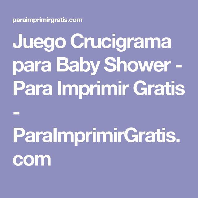 Juego Crucigrama para Baby Shower - Para Imprimir Gratis - ParaImprimirGratis.com