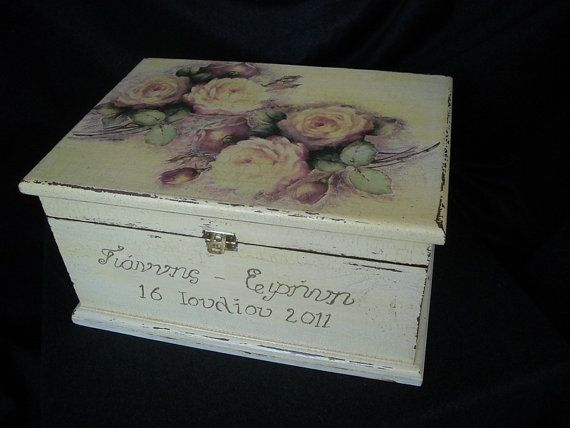 Wedding keepsake chest by HandmadeByFiona on Etsy, $95.00