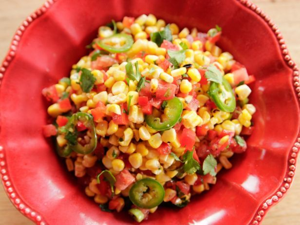 Corn Salad : When corn is in season, look no further than a quick-fix salad to showcase its sweet beauty. Ree's recipe combines grilled ears with a fresh tomato-bell pepper salad laced with bold jalapeno.