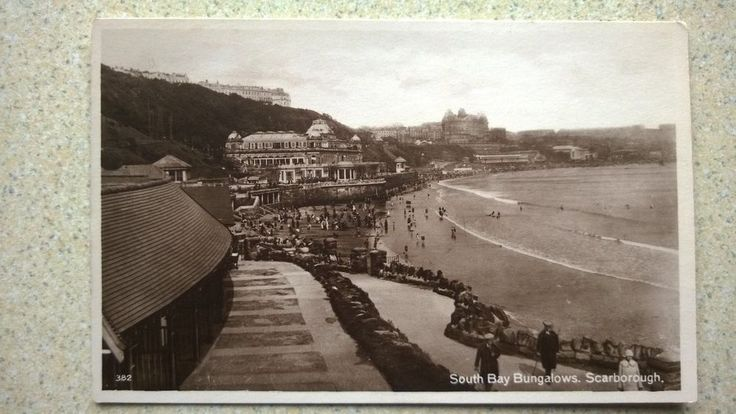 Vintage Postcard - Real Photograph of South Bay Bungalows Scarborough Yorkshire