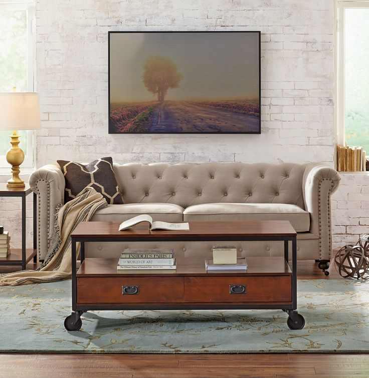 Our Gordon Tufted Sofa Is Lovely In Linen. HomeDecorators.com #sostylish