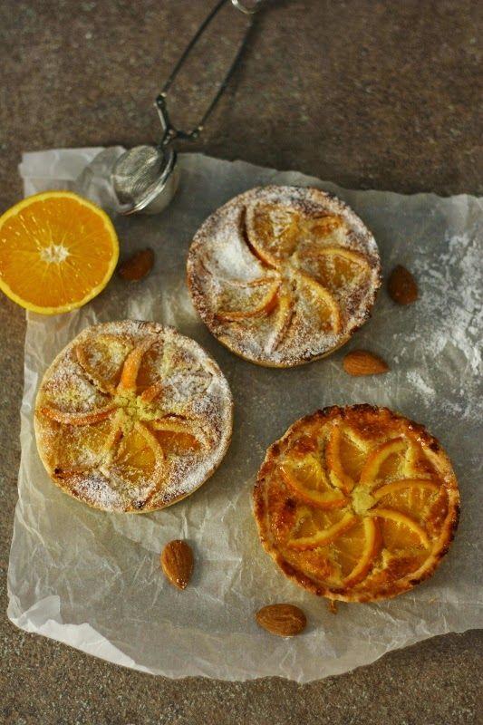 La ricetta della felicità: Crostatine all'arancia con crema frangipane
