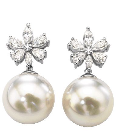 #Majorica #Bridal Pearl Earrings