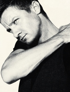 Jeremy Renner- I have a new Hollywood love interest now after watching the Bourne Legacy!!