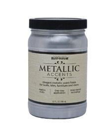 RustOleum metallic accents