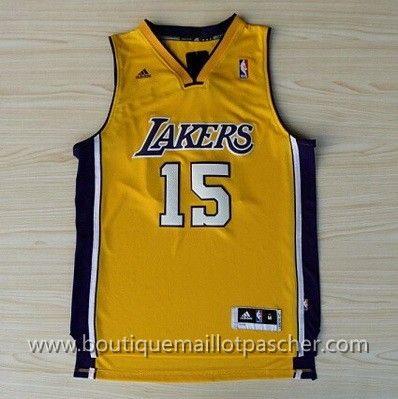 maillot nba pas cher Los Angeles Lakers Worldpeace #15 Jaune nouveaux tissu 22,99€