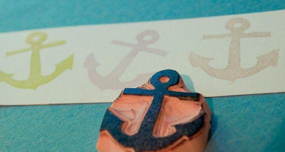 $12 Etsy Transaction - NEW Boat Anchor Rubber Stamp Scrapbooking Stamp Card Making Supplies Sailboat Ship Sailor