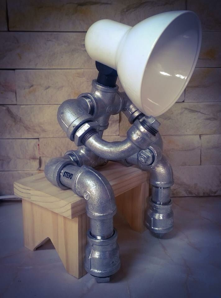 124 best stevo images on pinterest pipe lamp galvanized for Pipe lamp plans