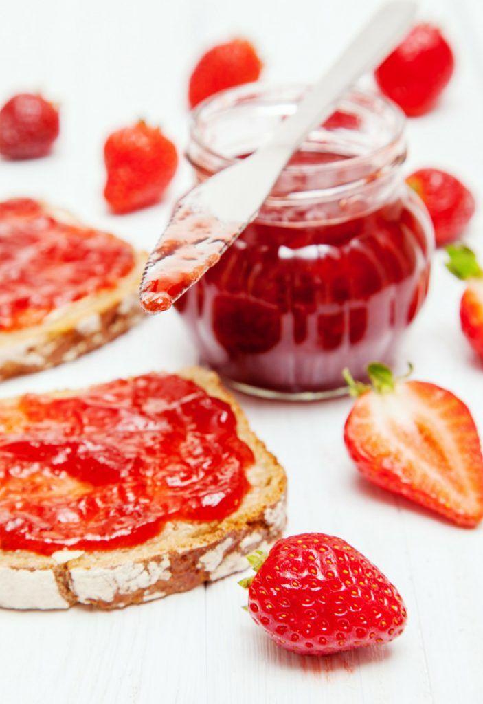 Strawberry Jello Freezer Jam