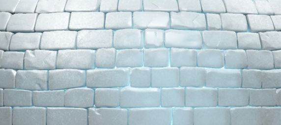 Paint Blue Rectangles On White Paper To Create Diy Igloo