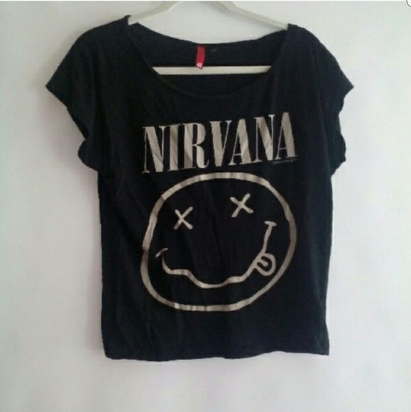 H&M NIRVANA SHIRT Excellent preloved condtion worn once H&M Tops Tees - Short Sleeve