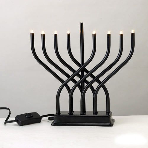 Modern Menorahs in technology style fashion news events home furnishings Category