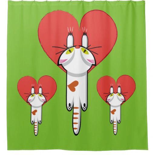 Lindo gatito aferrado al amor. Gato, cat, kitten. Producto disponible en tienda Zazzle. Decoración para el hogar. Product available in Zazzle store. Home decoration. Regalos, Gifts. Link to product: http://www.zazzle.com/lindo_gatito_aferrado_al_amor_gato_cat_kitten_shower_curtain-256985957814741338?CMPN=shareicon&lang=en&social=true&rf=238167879144476949 Día de los enamorados, amor. Valentine's Day, love. #ValentinesDay #SanValentin #love #shower #curtain #cortina #cat #gato #kitten