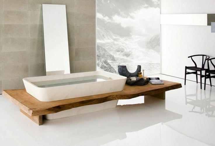 salle de bain zen avec baignoire originale
