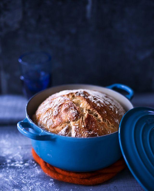 Pataleipä. No Knead Bread. Client: Kotivinkki Magazine. Food & style Kati Pohja, Photo Satu Nystrom.
