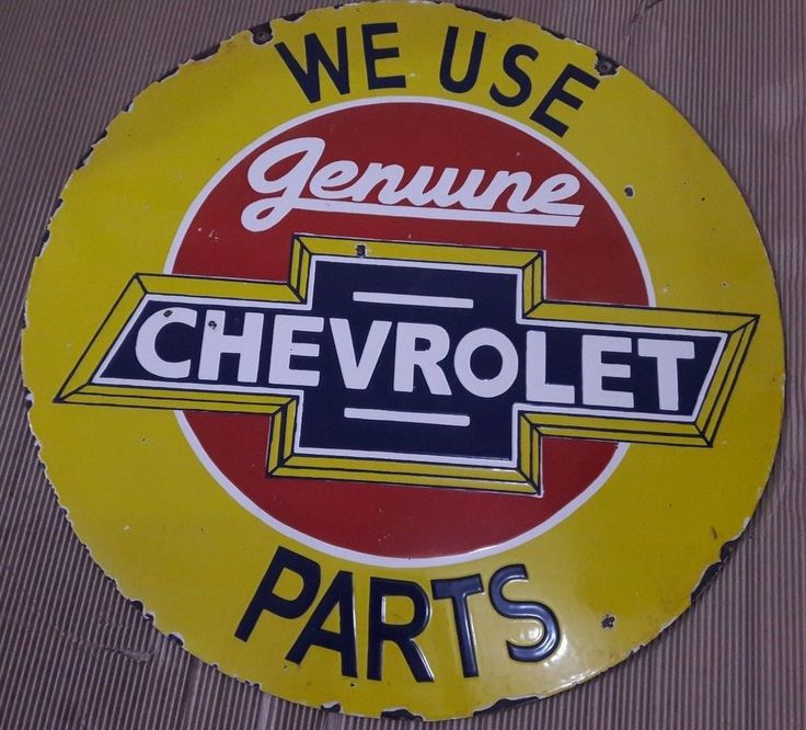 """CHEVROLET PARTS Porcelain  Sign SIZE 30"""" ROUND DOUBLE SIDED"""