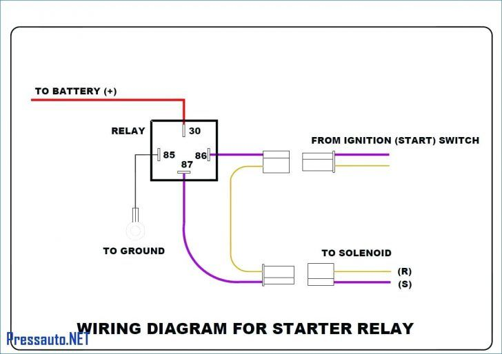 how to wire a relay switch diagram