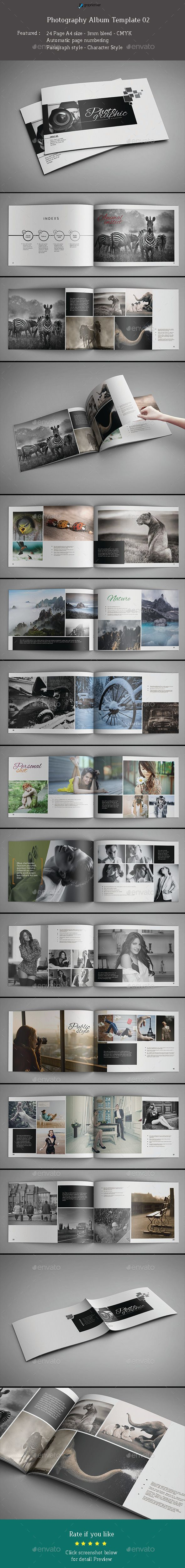 Photography Album Template #design #print Download: http://graphicriver.net/item/photography-album-template-02/11675839?ref=ksioks