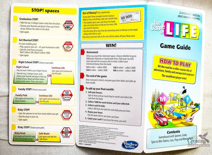 Discover THE GAME OF LIFE Classic board game by Hasbro brought back to life w/ a fresh twist! Including Rule & Instructions for a fun Family Game Night.