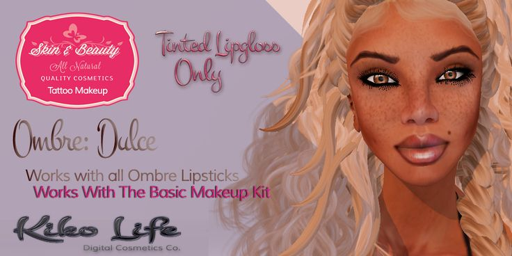 Layerable tinted ombre-style lip glosses! Use on top of ANY lipstick, works perfectly with The Basic Makeup Kit and Ombre lipsticks. Unlimited potential combinations!   http://maps.secondlife.com/secondlife/Chicago%20City/134/104/25