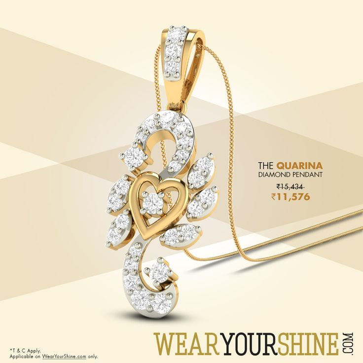 Look resplendent in the beautiful The Quarina Diamond Pendant, here is another masterpiece from PC Jeweller. #Pinterest #Fashion #Trends #Jewellery #Accessories #EveryThing #Beauty #Roposo #JewelryShopping #Shopping #Roposo #Pendant