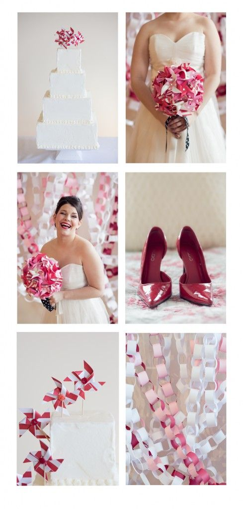 DIT photo booth background.  Pink and Red Wedding ideas.  Valentine wedding ideas.  Pinwheel wedding bouquet.  DIY Pinwheel Wedding Bouquet:  Maine Wedding Photography
