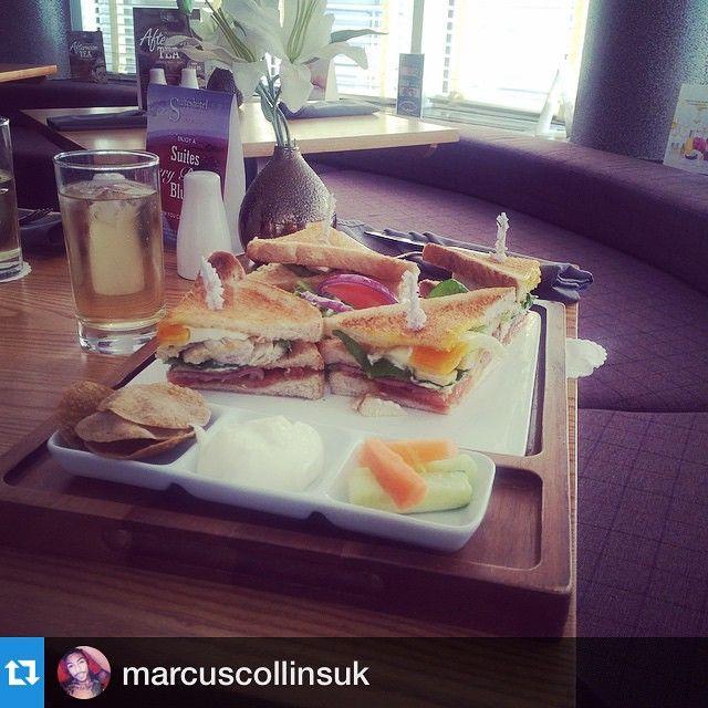 #Repost @marcuscollinsuk enjoying his #spa lunch #yum!