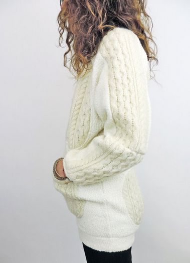 This sweater is made from other upcycled sweaters! LOVE.