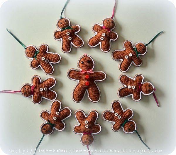 Der kreative Wahnsinn: Grüße vom Nikolaus / Lebkuchenmännchen ♥