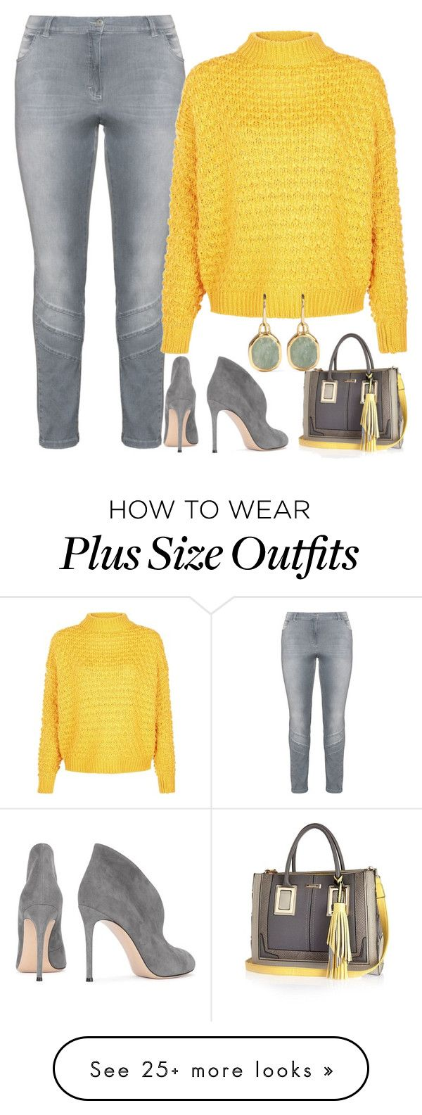 """""""Ray of SunShine"""" by vero1307 on Polyvore featuring KJ Brand, Gianvito Rossi, River Island and Monica Vinader"""