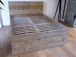 Bed 'Ortelius'   steigerhout   Te koop bij w00tdesign   Flickr