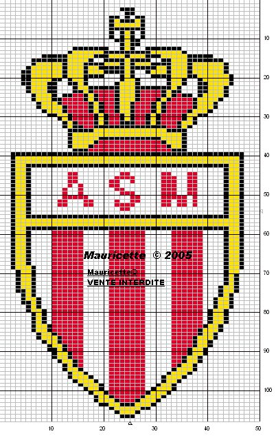 sport - football - asm - point de croix - cross stitch - Blog : http://broderiemimie44.canalblog.com/