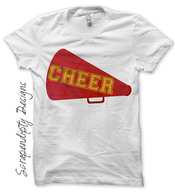 Cheer Megaphone Iron on Transfer - Iron on Cheerleading Shirt PDF / Girls Cheerleading Outfit / Girls Sports Clothes / Cheer Gifts by ScrapendipityDesigns, $2.50