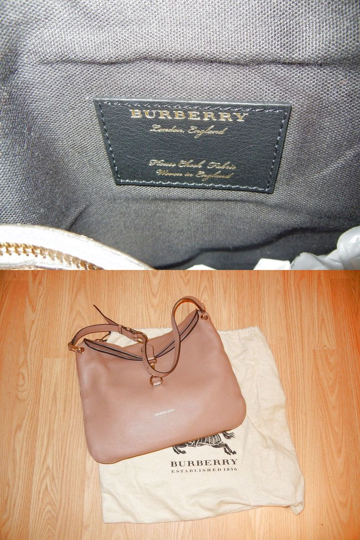 4886c66675d NWT BURBERRY London Calle Black Leather Hobo Shoulder Bag  649.0   Burberry  Handbags   Pinterest   Black, Leather and Bags