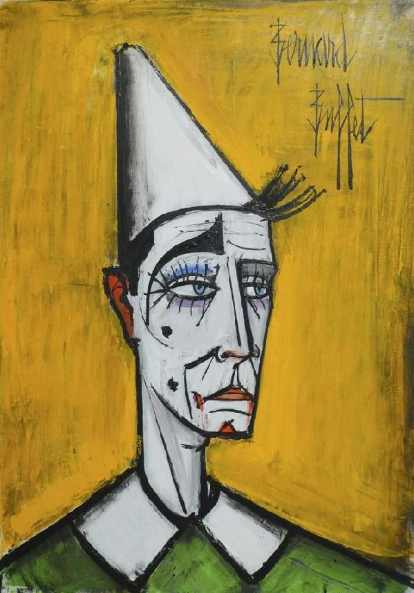 Bernard Buffet ~ Clown (1997)                                                                                                                                                                                 Plus