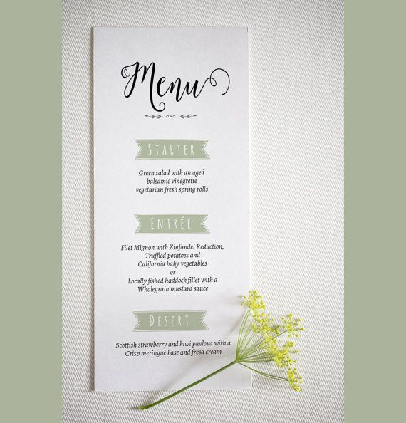 The 25+ best Wedding menu template ideas on Pinterest Free - dinner party menu template