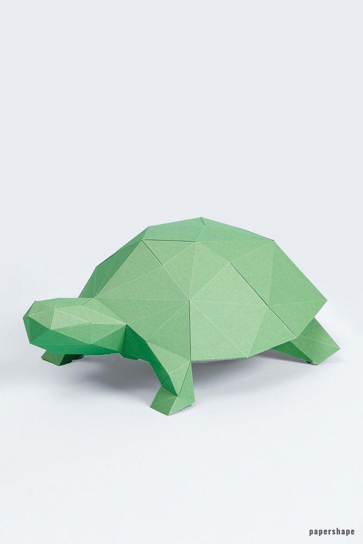 Schildkröte Papiertier   molde para figuras de papel ...