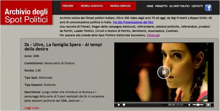 Archivio online degli spot politici