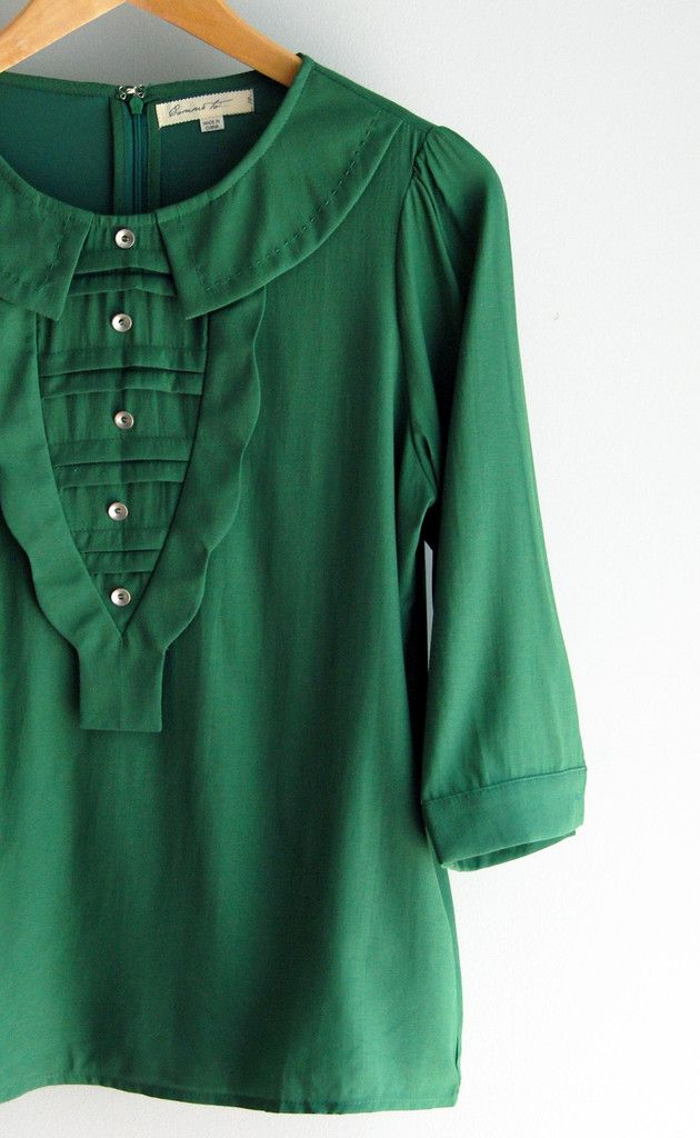 Green Collar Blouse