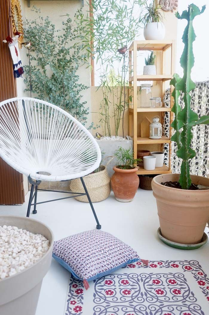 Bohemien-chic balkon make-over van Juliana | Inrichting-huis.com