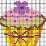 Cupcakes Gráficos Grátis. Lindos para bordar em panos de prato...