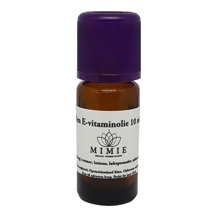 Naturlig ren E vitamin olie - D Mixed tocopherol - 10 ml - til hudpleje