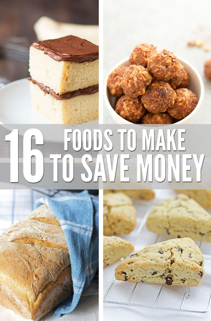Slash your grocery budget with a list of 16 foods to make from scratch, including links to recipes and a price break down. Saving money just got a whole lot easier! :: DontWastetheCrumbs.com