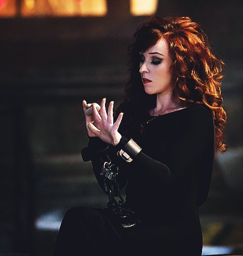 Rowena - I love her. I love her strength, cunning, and beauty. The Supernatural hair and makeup team do an amazing job with her gorgeous hair and eyes.