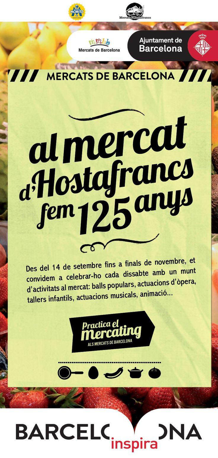 Cartell del 125è Aniversari del Mercat d'Hostafrancs