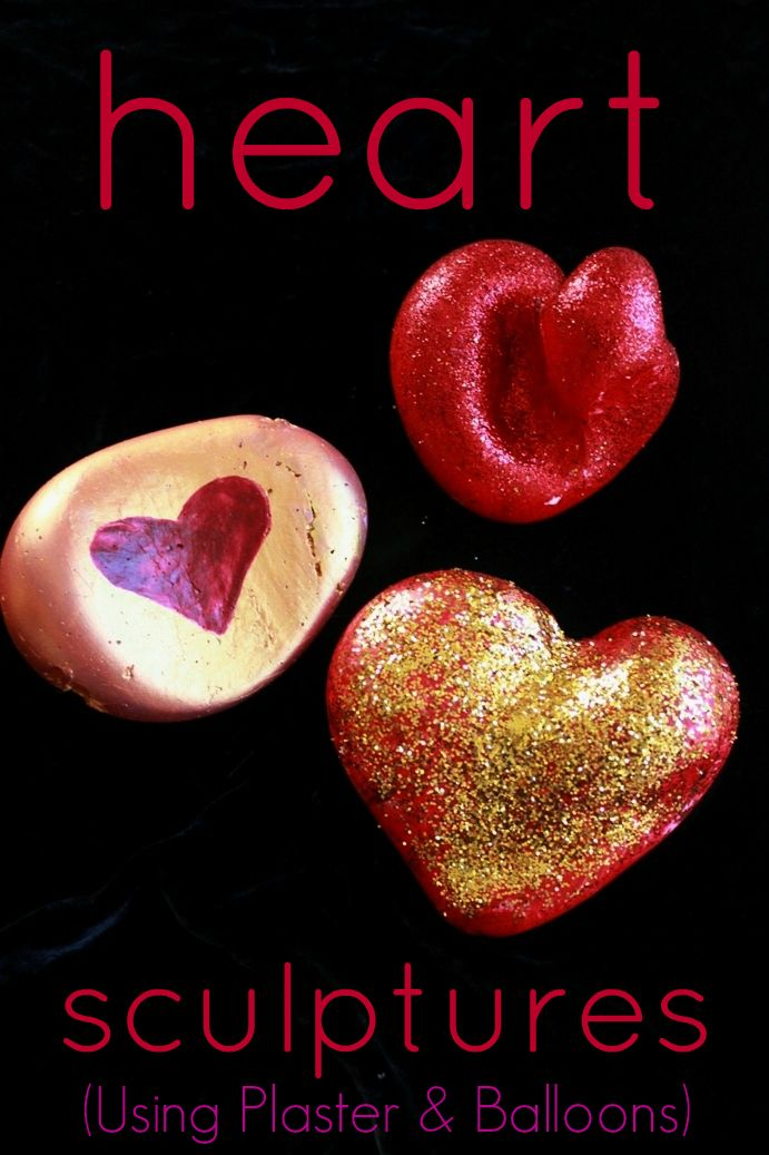 Heart Sculptures -- A fun Valentine's Day craft and gift. Would make a great paperweight!