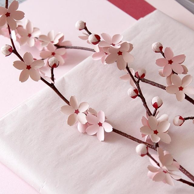 These Paper Blossoms Are Getting Us Pumped To See The Real Deal Up Close And Personal Paper Flowers Craft Cherry Blossom Origami Chinese New Year Decorations