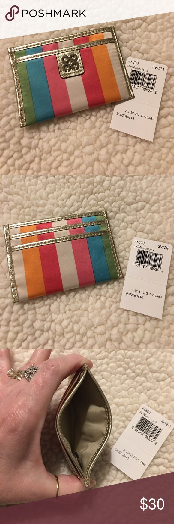 🌸💋Coach Legacy Stripe ID Credit Card Case🌸 NEW Authentic COACH Julia Legacy Stripe ID Credit Card Case Coach Accessories Key & Card Holders