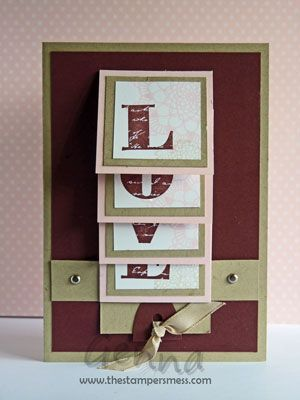 Great for valentines day....cascading card