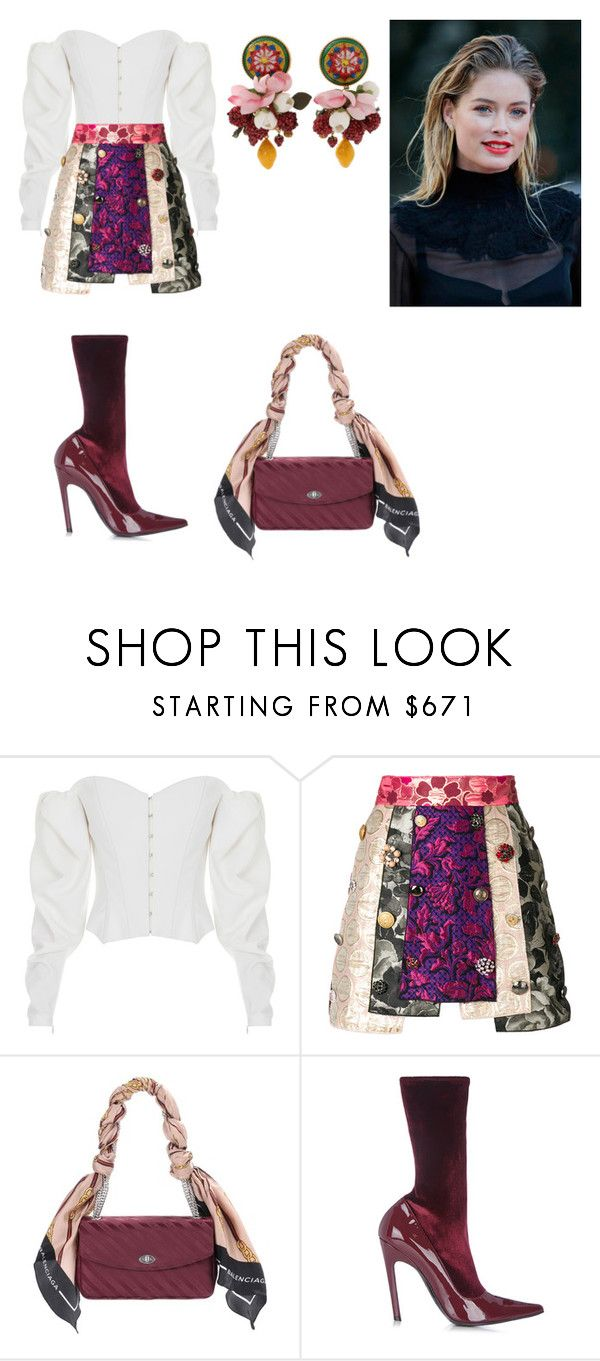 """""""Untitled #9"""" by corina-stanculet ❤ liked on Polyvore featuring ElenaReva, Dolce&Gabbana and Balenciaga"""